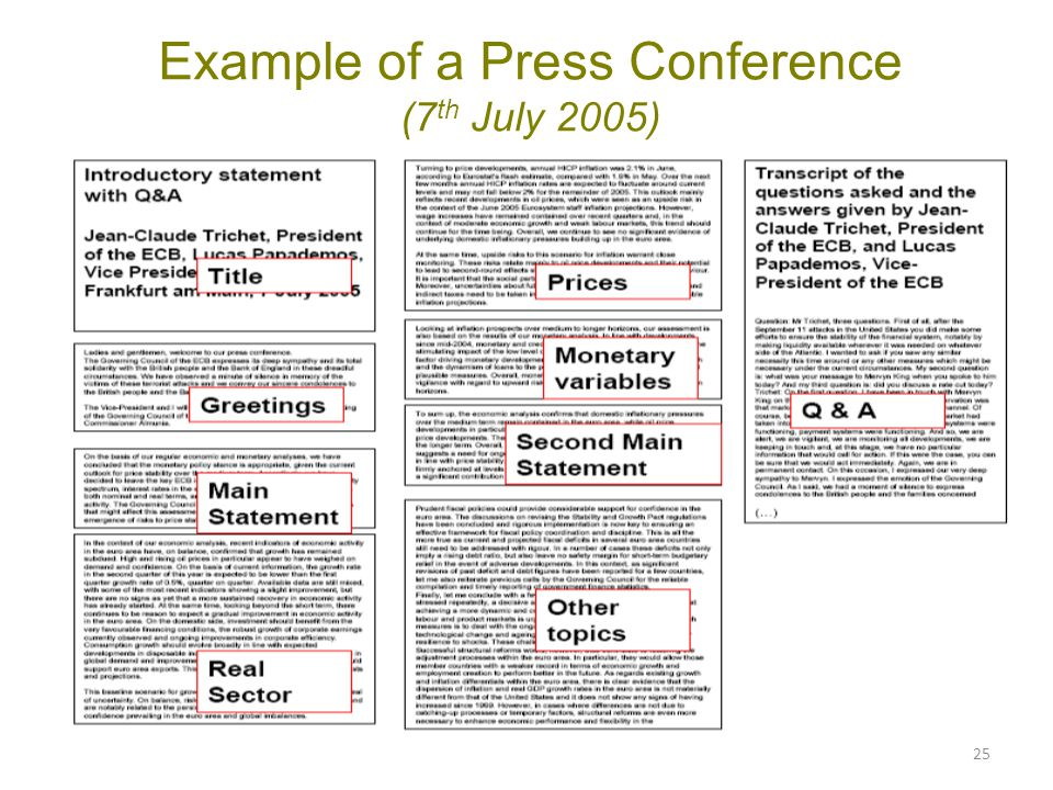 Example of a Press Conference (7th July 2005)
