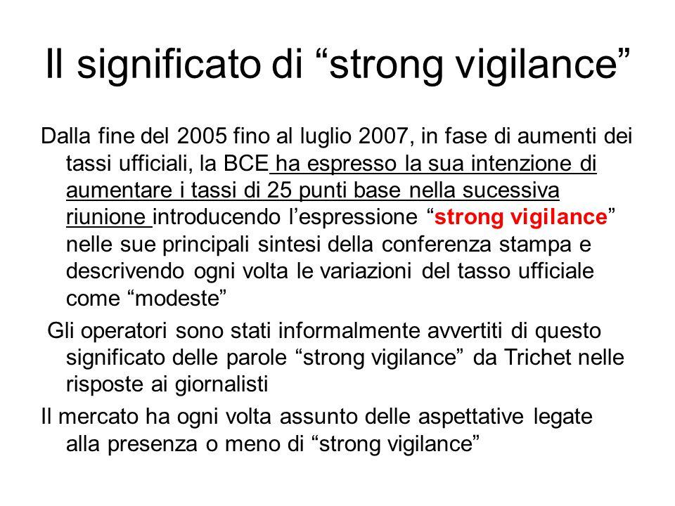 Il significato di strong vigilance