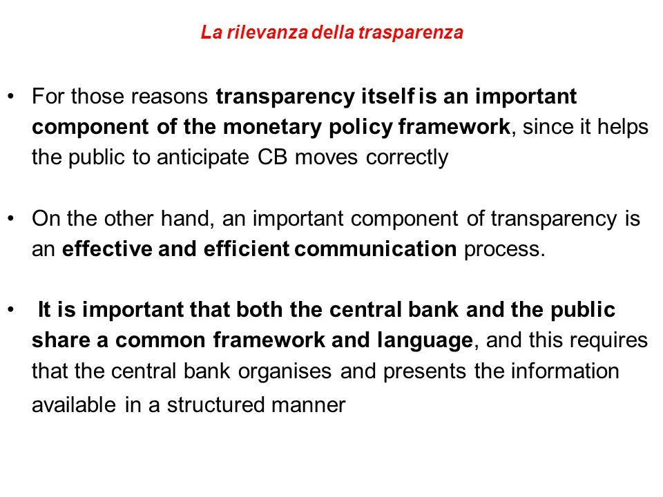 La rilevanza della trasparenza