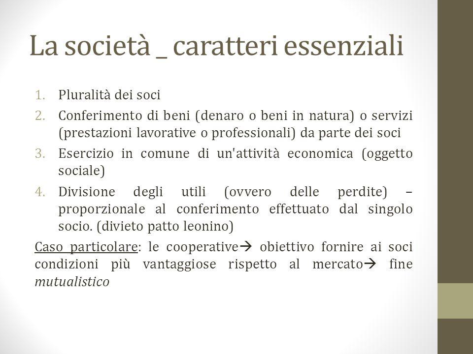 La società _ caratteri essenziali