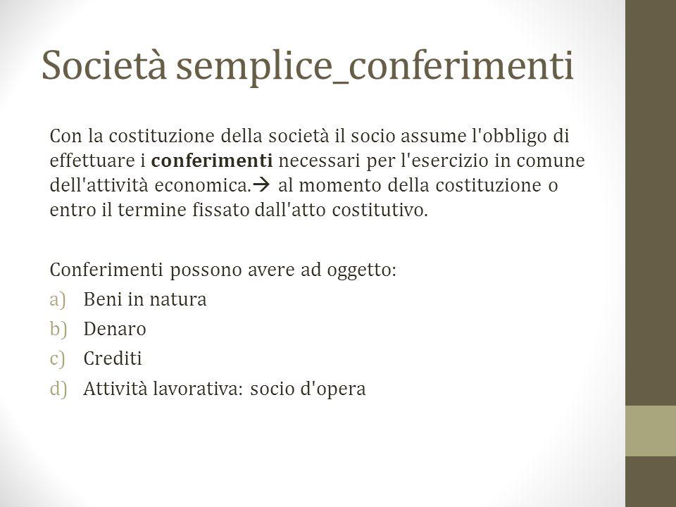 Società semplice_conferimenti