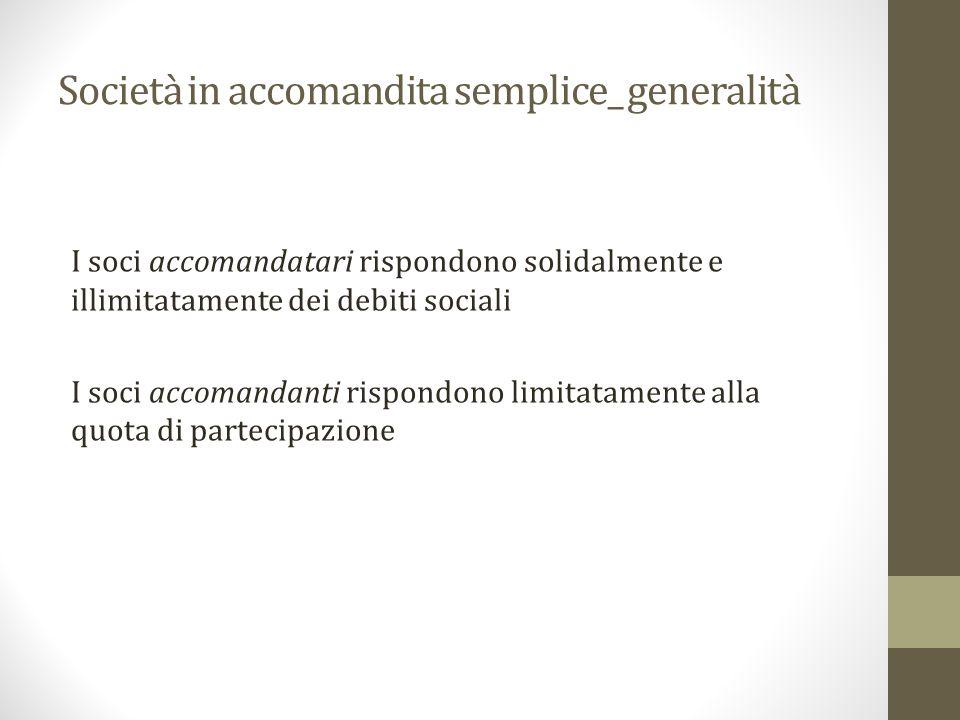 Società in accomandita semplice_ generalità