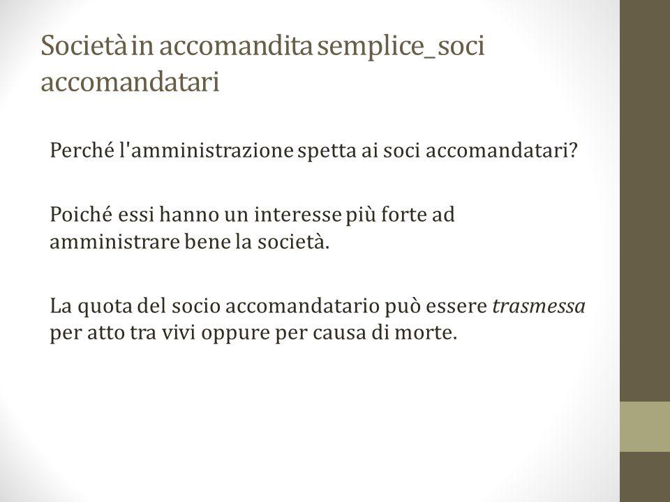 Società in accomandita semplice_ soci accomandatari