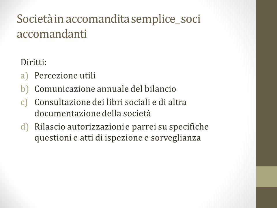 Società in accomandita semplice_ soci accomandanti