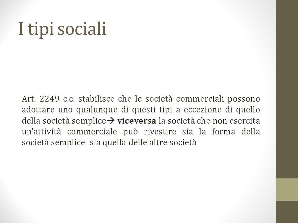 I tipi sociali