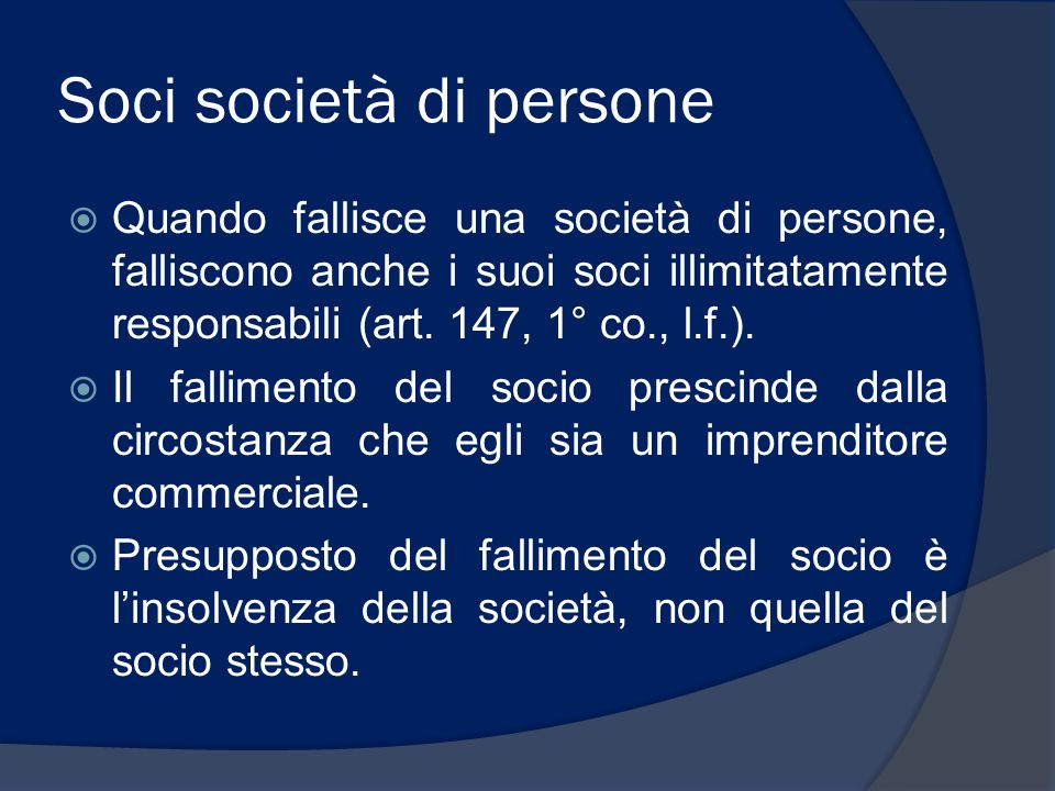 Soci società di persone