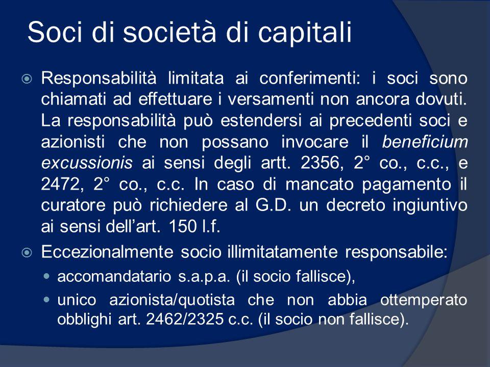 Soci di società di capitali