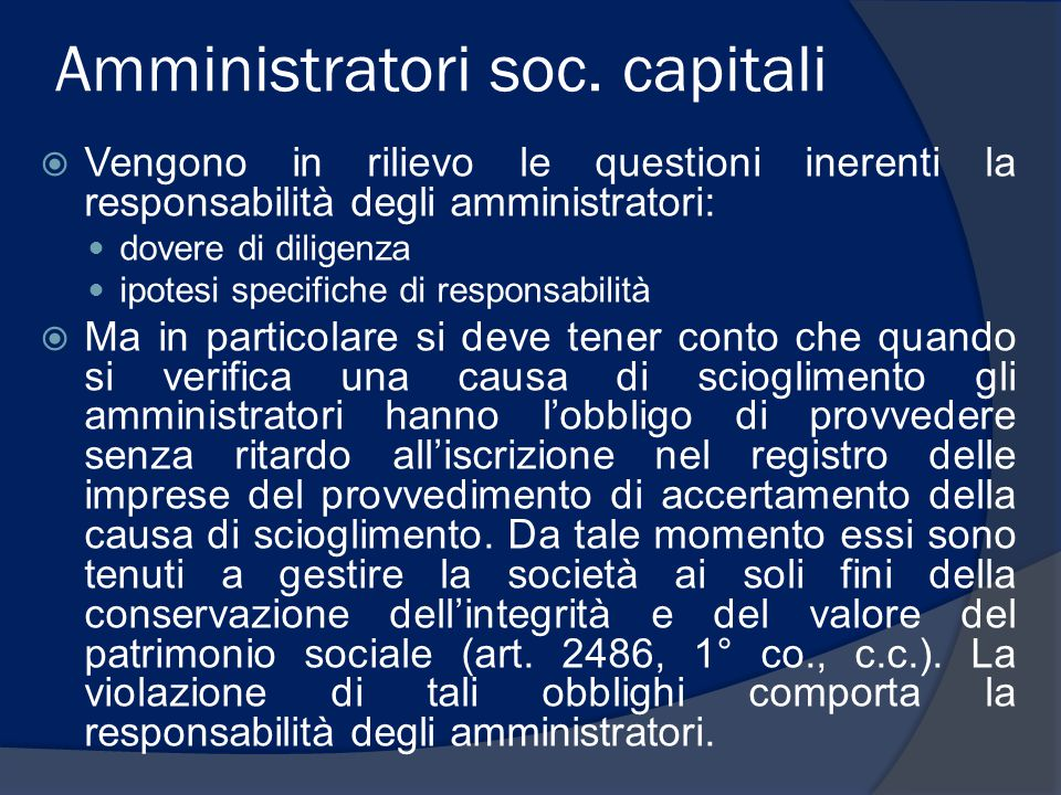 Amministratori soc. capitali
