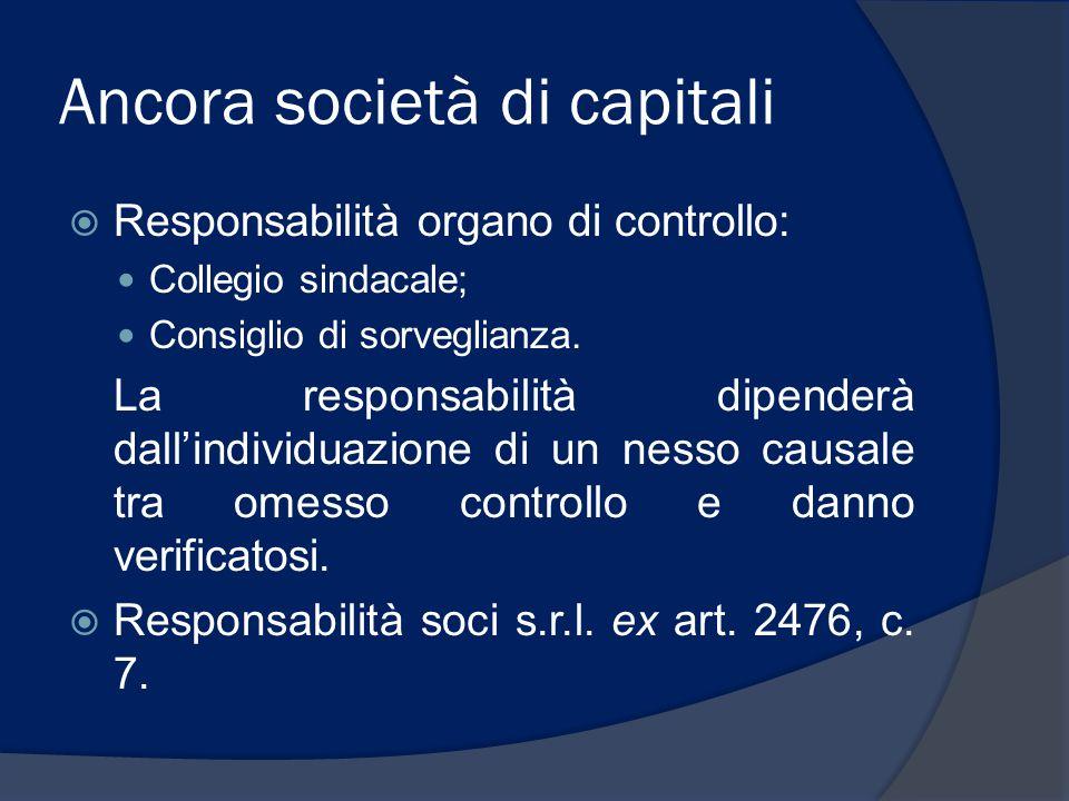Ancora società di capitali