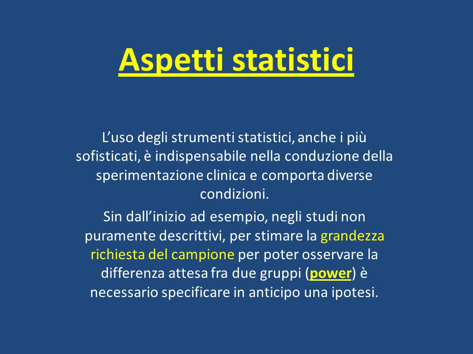 Aspetti statistici