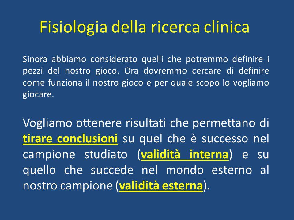 Fisiologia della ricerca clinica
