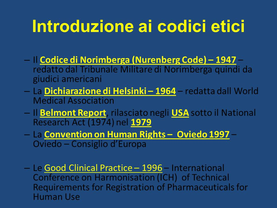 Introduzione ai codici etici
