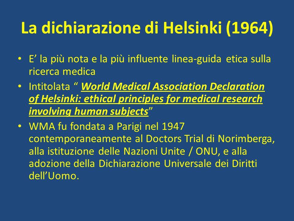 La dichiarazione di Helsinki (1964)