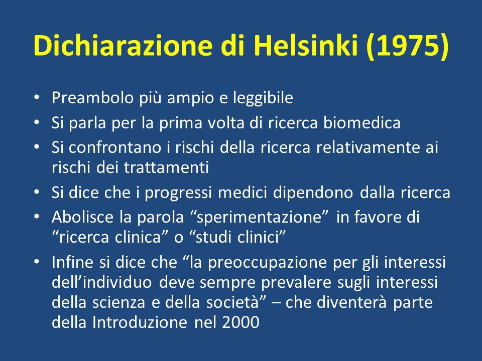 Dichiarazione di Helsinki (1975)