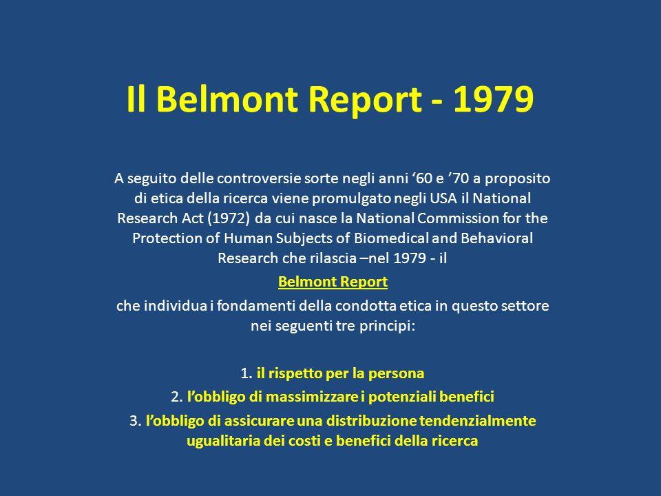 Il Belmont Report - 1979