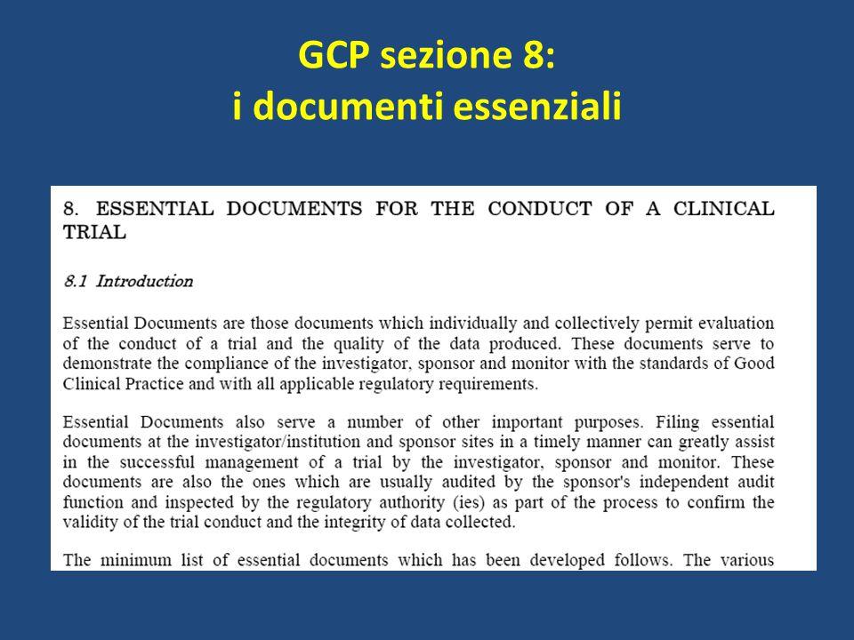 GCP sezione 8: i documenti essenziali