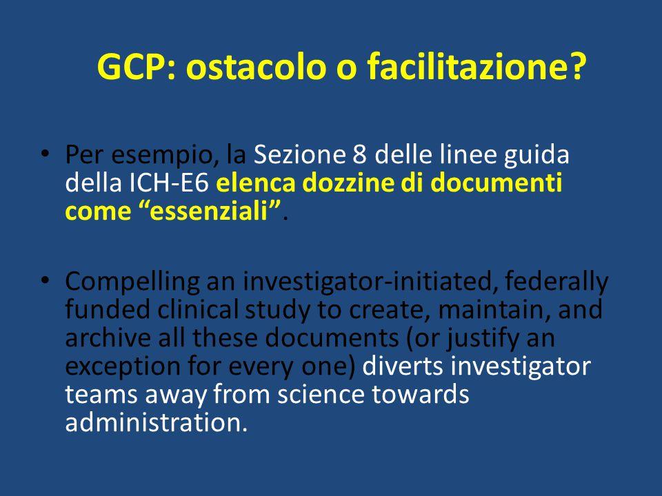 GCP: ostacolo o facilitazione