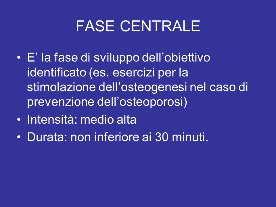 FASE CENTRALE