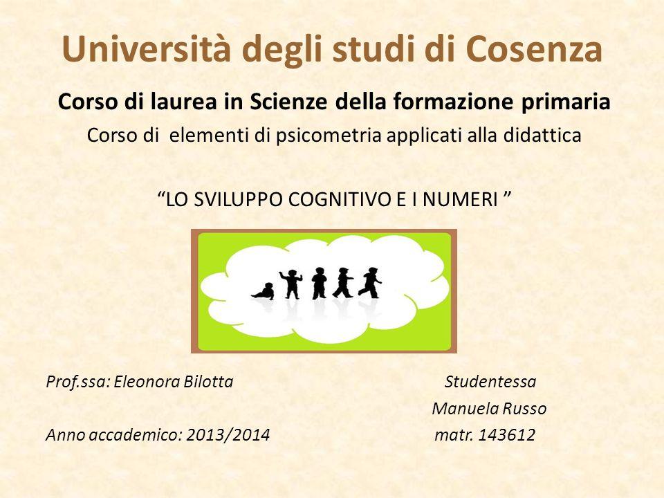 Università degli studi di Cosenza