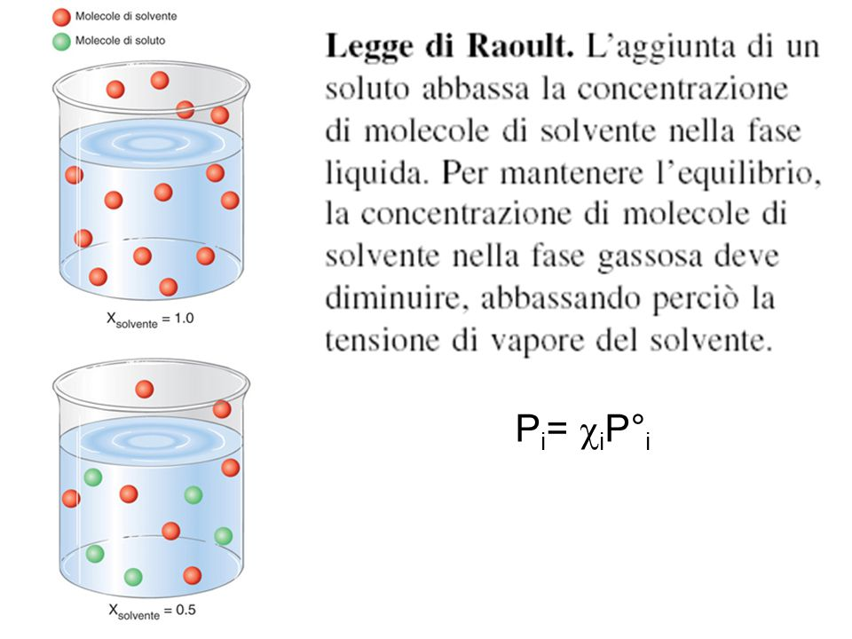 Legge di Raoult Pi= ciP°i