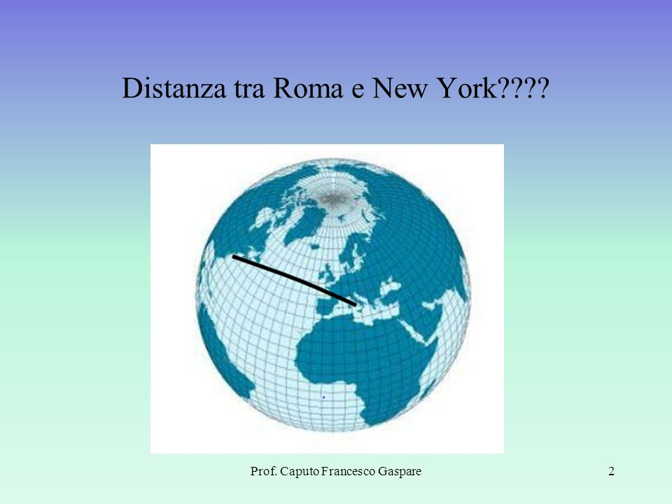 Distanza tra Roma e New York