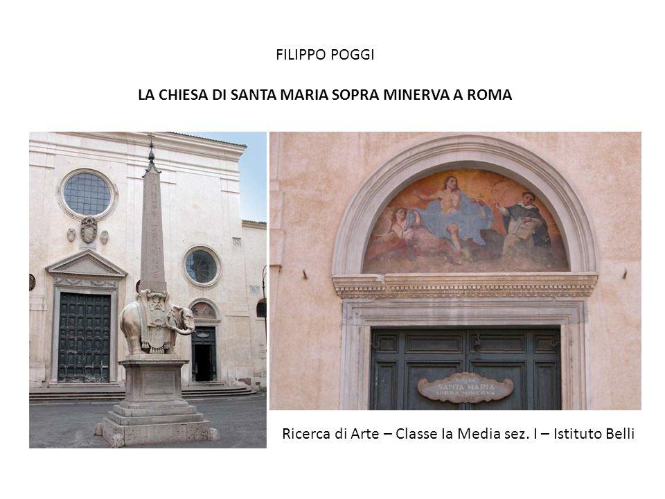 LA CHIESA DI SANTA MARIA SOPRA MINERVA A ROMA