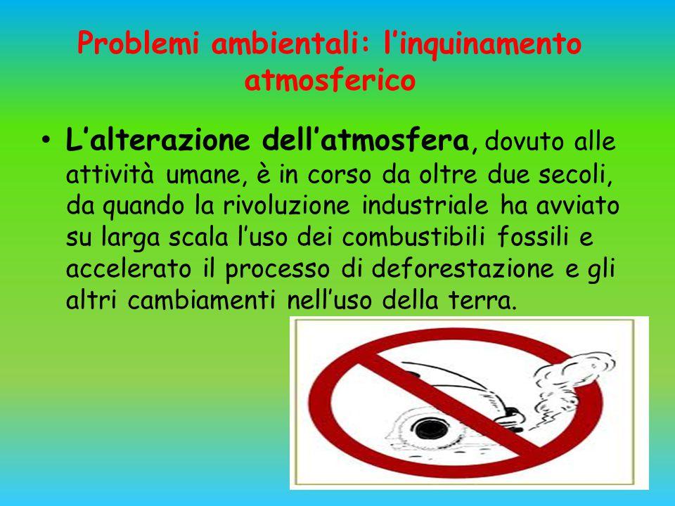 Problemi ambientali: l'inquinamento atmosferico