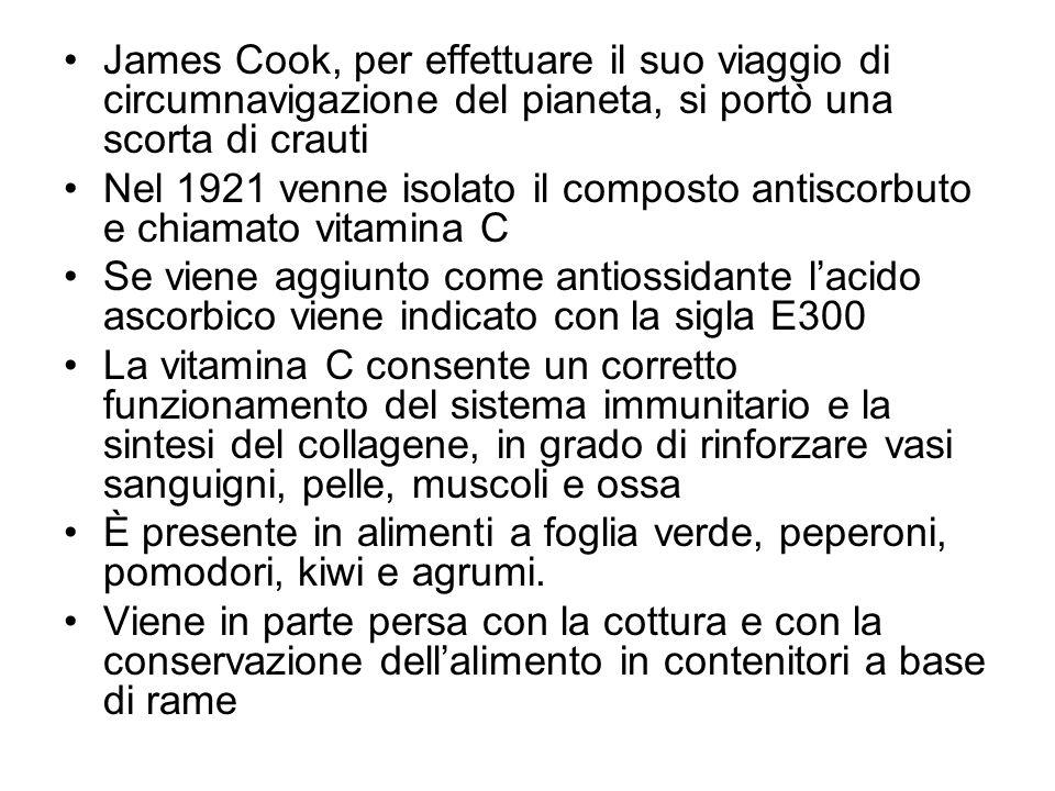 James Cook, per effettuare il suo viaggio di circumnavigazione del pianeta, si portò una scorta di crauti