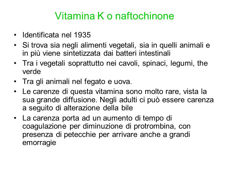 Vitamina K o naftochinone