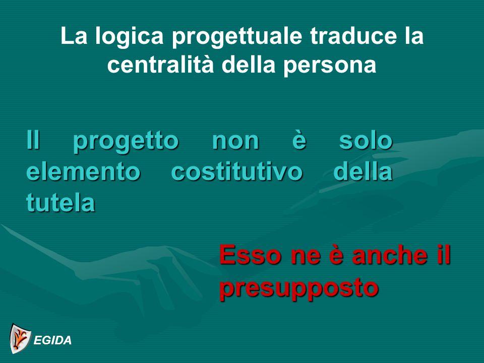 La logica progettuale traduce la centralità della persona