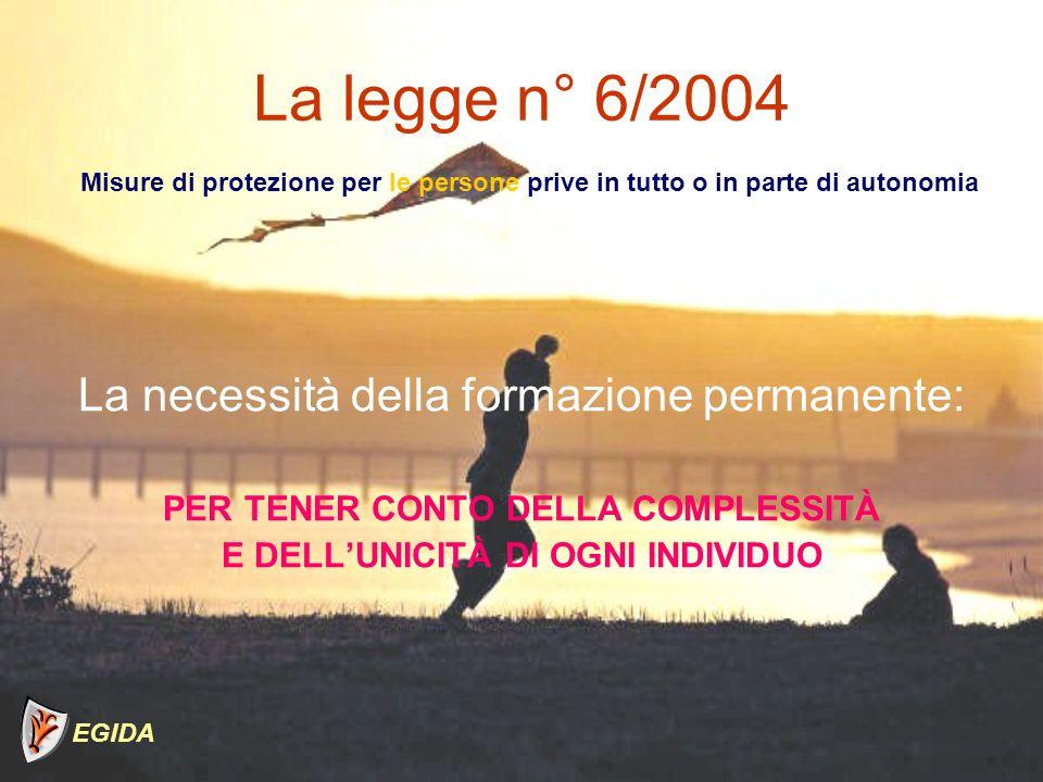 PER TENER CONTO DELLA COMPLESSITÀ E DELL'UNICITÀ DI OGNI INDIVIDUO