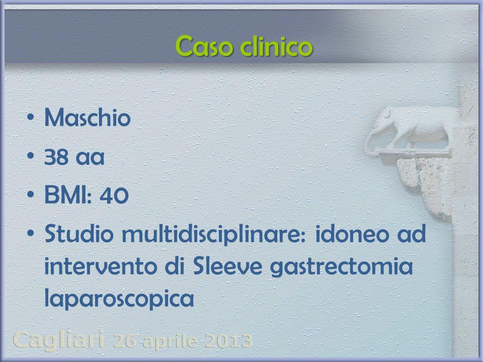 Caso clinico Maschio. 38 aa. BMI: 40.