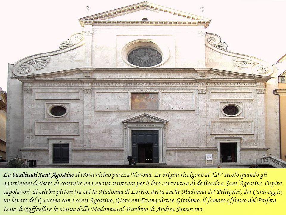 La basilicadi Sant Agostino si trova vicino piazza Navona