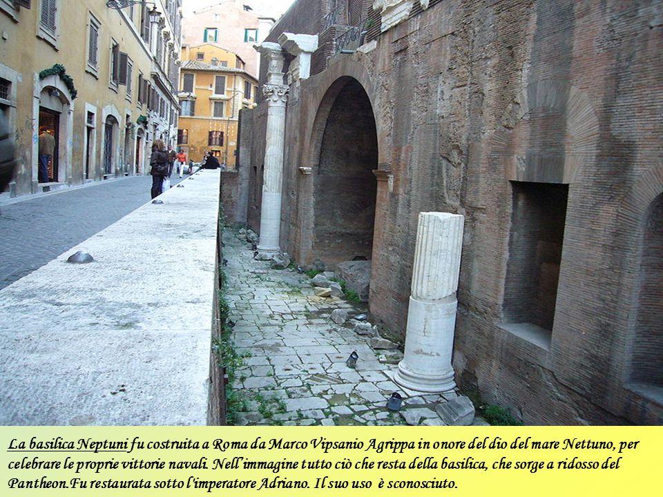 La basilica Neptuni fu costruita a Roma da Marco Vipsanio Agrippa in onore del dio del mare Nettuno, per celebrare le proprie vittorie navali.