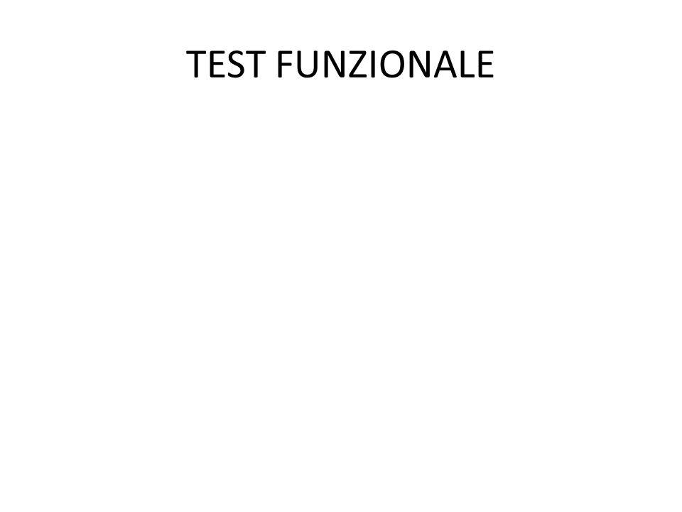 TEST FUNZIONALE