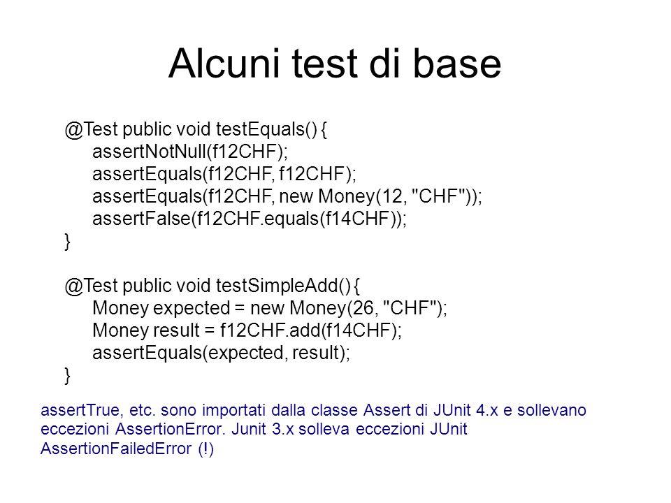 Alcuni test di base assertNotNull(f12CHF);