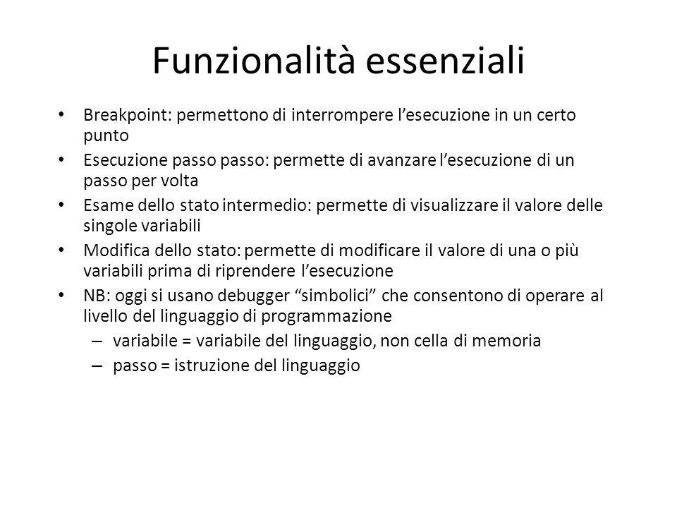 Funzionalità essenziali