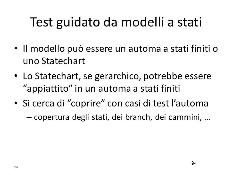 Test guidato da modelli a stati