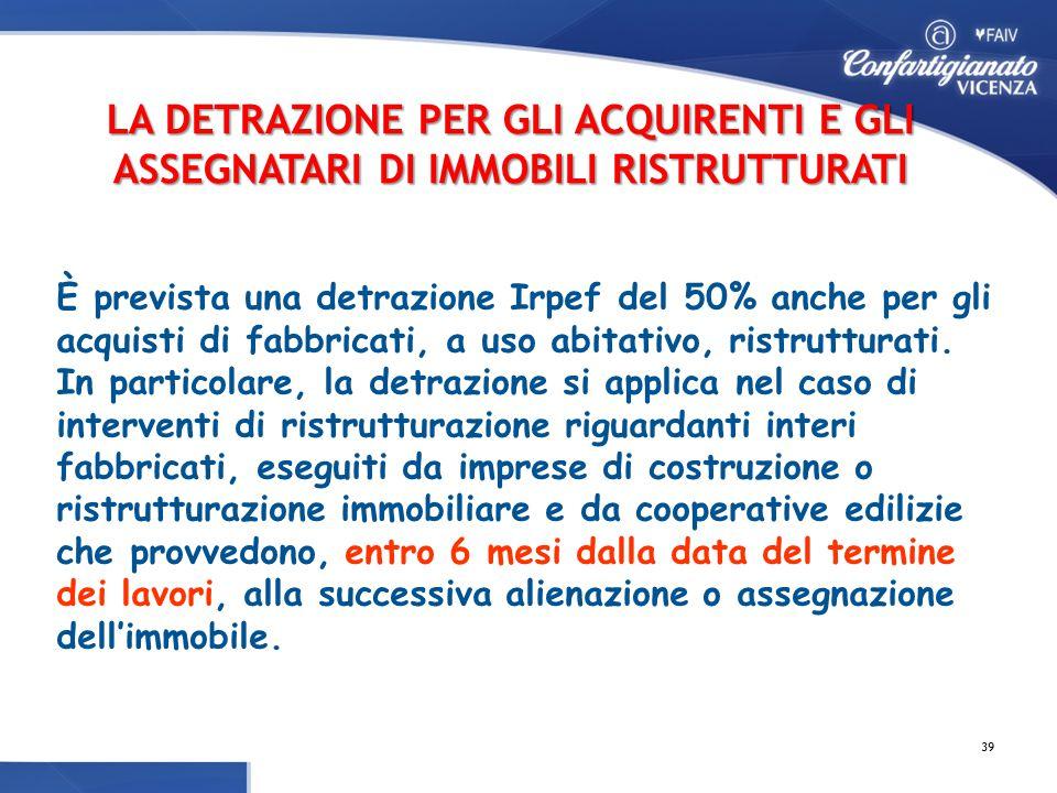 Le agevolazioni fiscali sulle ristrutturazioni acquisto - Detrazioni fiscali in caso di vendita immobile ...
