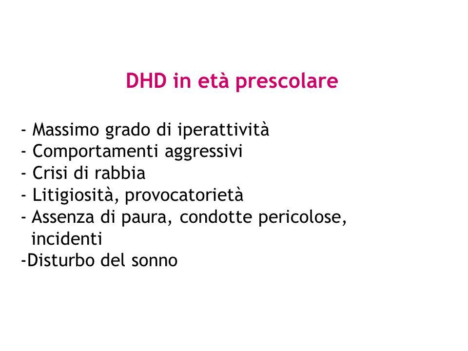 DHD in età prescolare - Massimo grado di iperattività