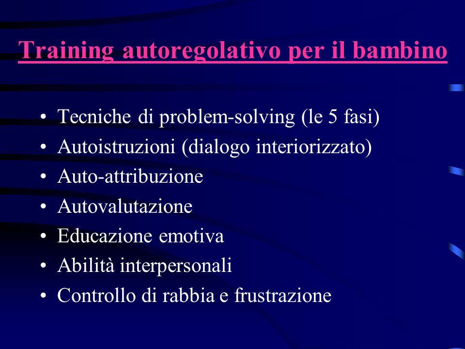 Training autoregolativo per il bambino
