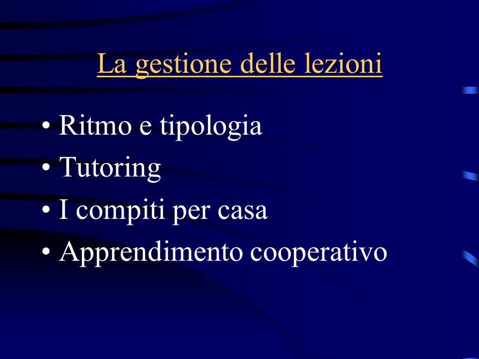 La gestione delle lezioni