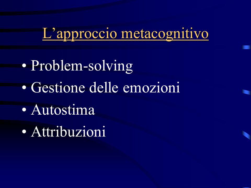 L'approccio metacognitivo