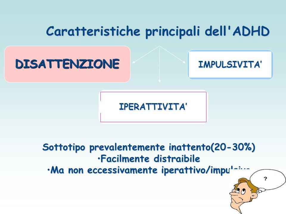 Caratteristiche principali dell ADHD