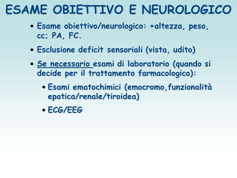 ESAME OBIETTIVO E NEUROLOGICO