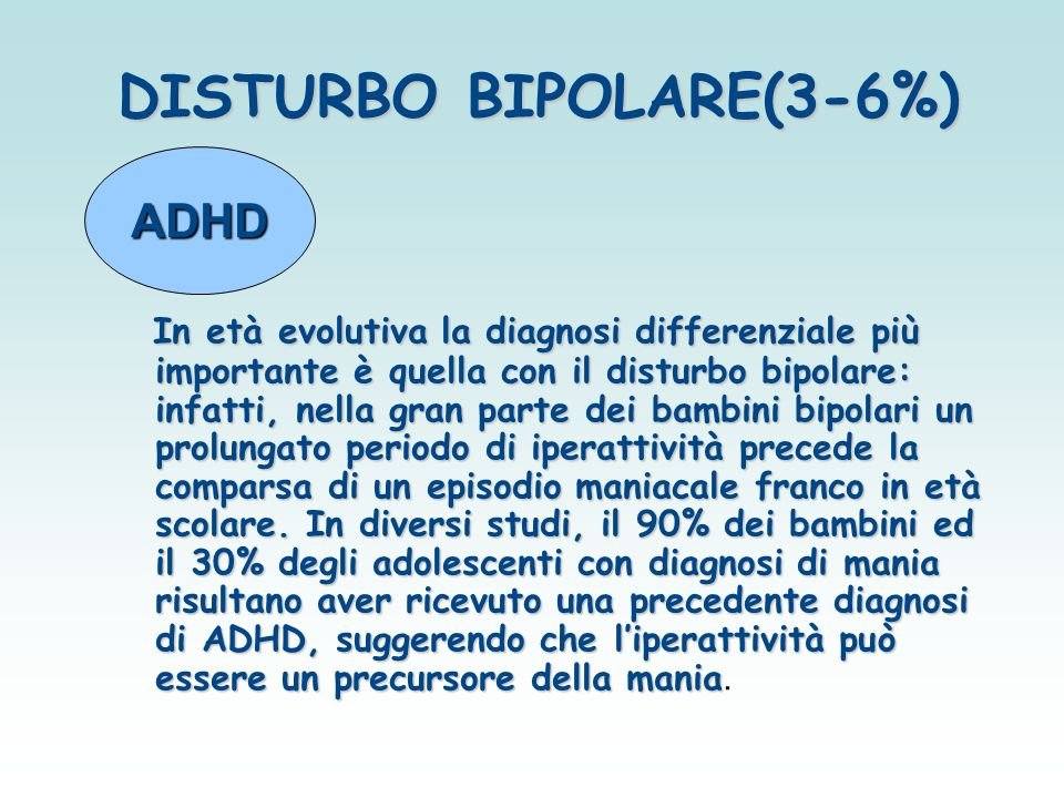 DISTURBO BIPOLARE(3-6%)