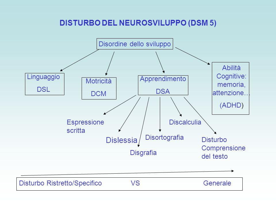 DISTURBO DEL NEUROSVILUPPO (DSM 5)