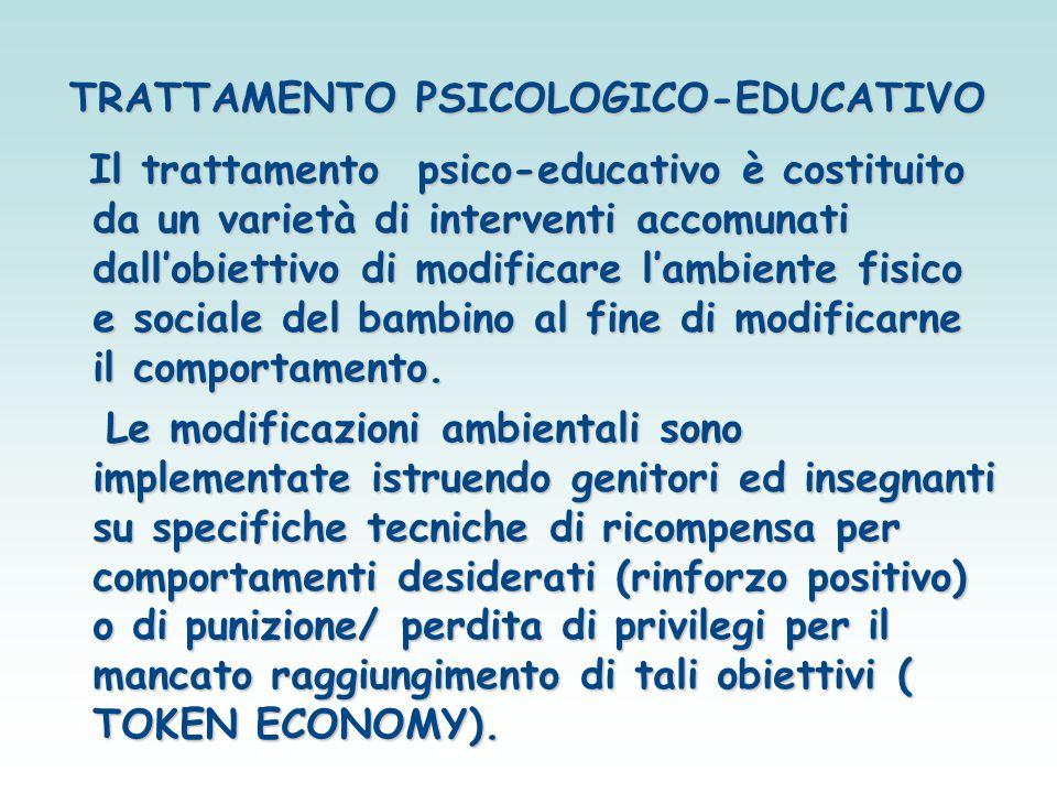 TRATTAMENTO PSICOLOGICO-EDUCATIVO