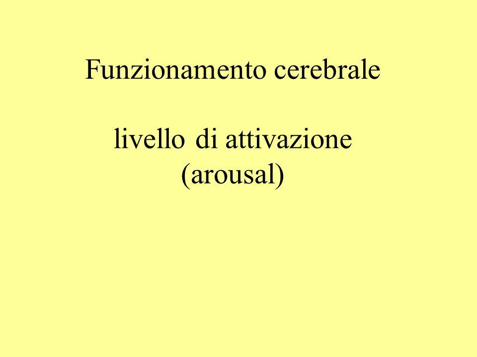 Funzionamento cerebrale livello di attivazione (arousal)
