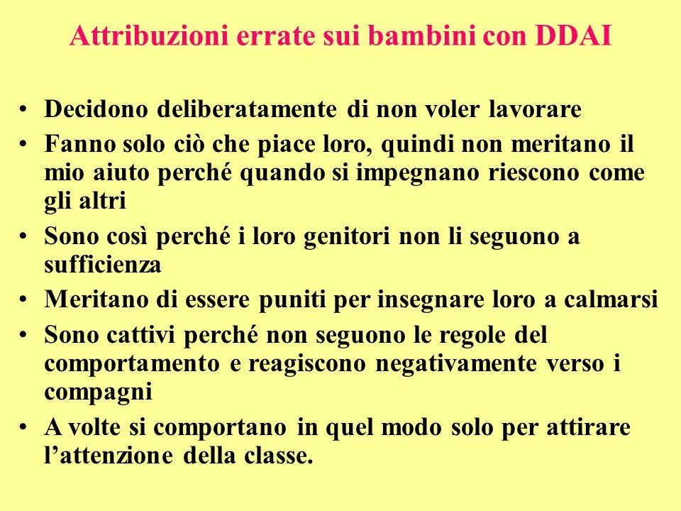 Attribuzioni errate sui bambini con DDAI
